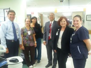 L to R: Patrick Muldoon, Kim Cosetta, RN, Denise Latino, RN, Doug Brown, Diane Thompson, RN, Betsy Green