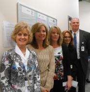 HIS Idea Board. (L to R) Debbie Borkowski, Aimee Hammond, Shelley Soini, Diana Laplante, Dr. Dickson
