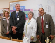 MCH Idea Board. (L to R)Allyson St. Amand, Dr. Dickson, Gail Walker, Doug Brown