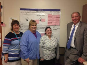 I recently visited with the lab team at Clinton Hospital