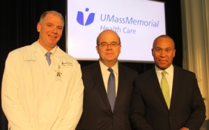 Dr. Dickson, Congressman Jim McGovern and Governor Deval Patrick
